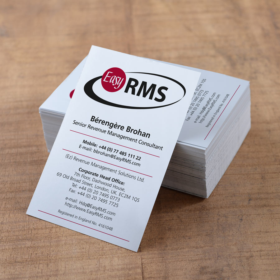 London Print Room Laminated Thick Business Cards 450gsm