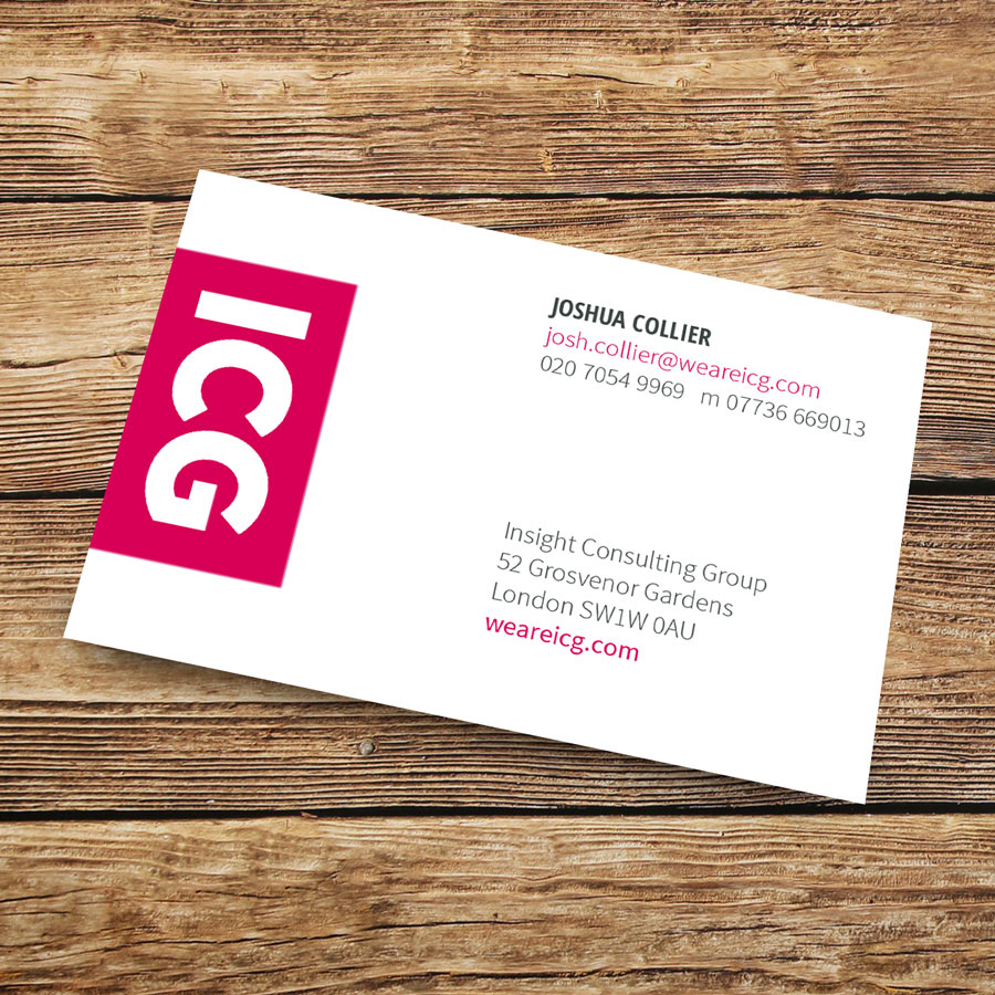 london print room  standard business cards 400gsm